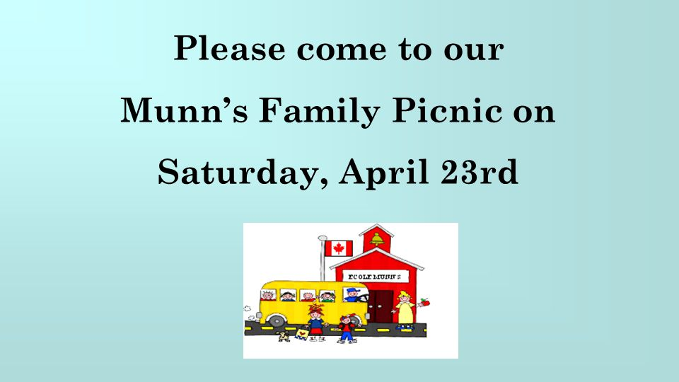 Munn's Family Picnic on