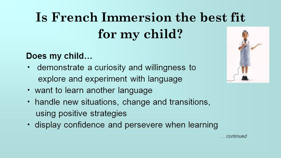 Is French Immersion the best fit