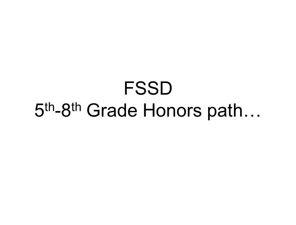 FSSD 5th-8th Grade Honors path…