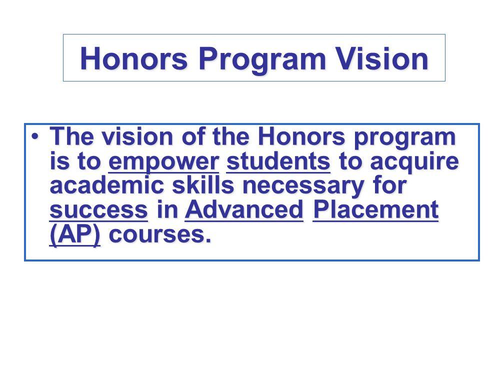 Honors Program Vision