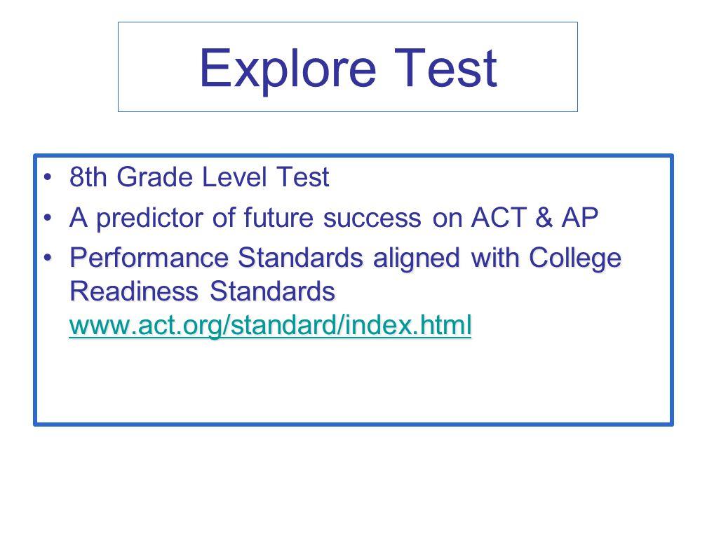 Explore Test 8th Grade Level Test