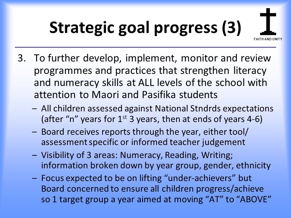 Strategic goal progress (3)