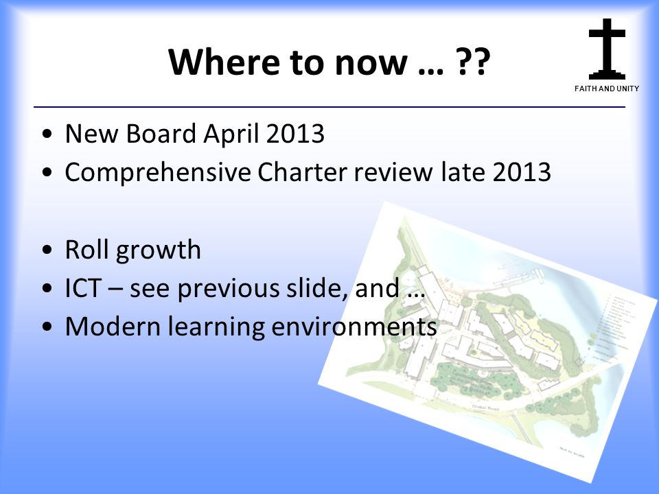 Where to now … New Board April 2013