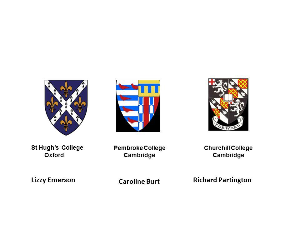 St Hugh's College Caroline Burt Lizzy Emerson Richard Partington