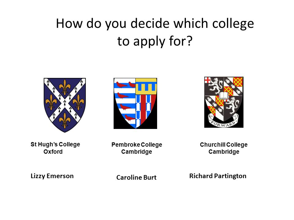 How do you decide which college