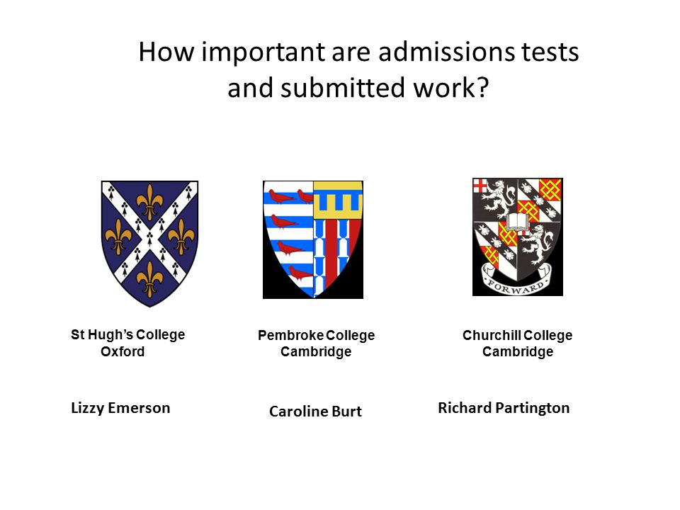 How important are admissions tests