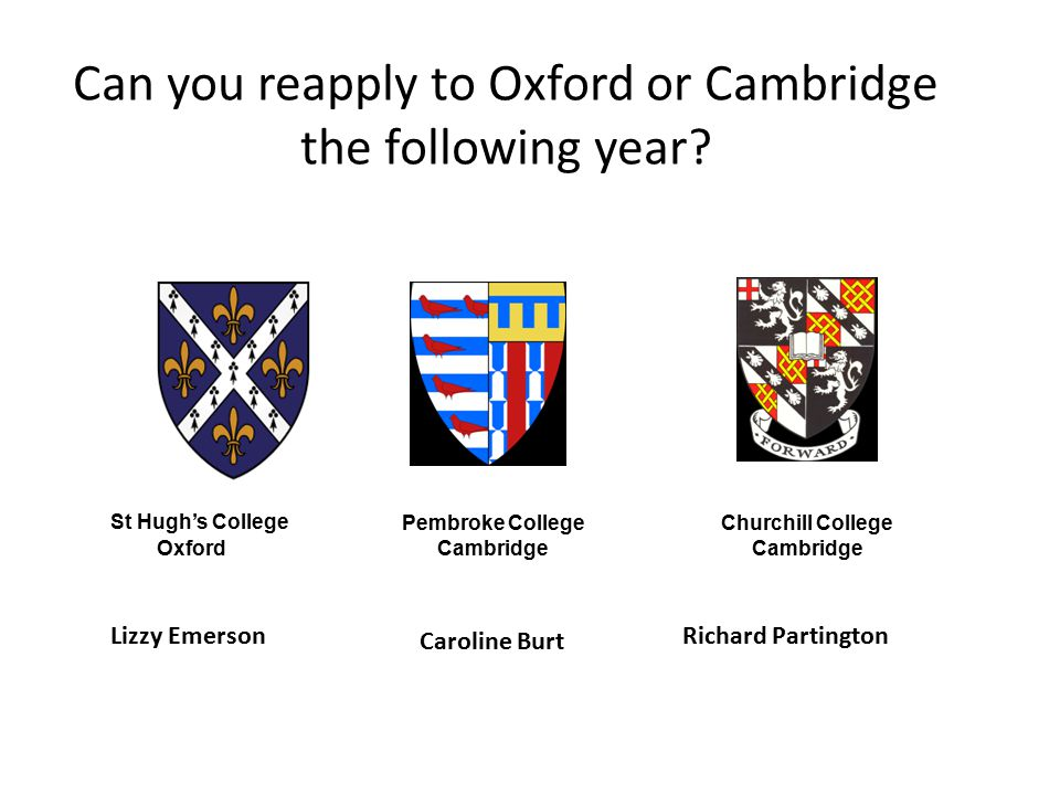 Can you reapply to Oxford or Cambridge the following year