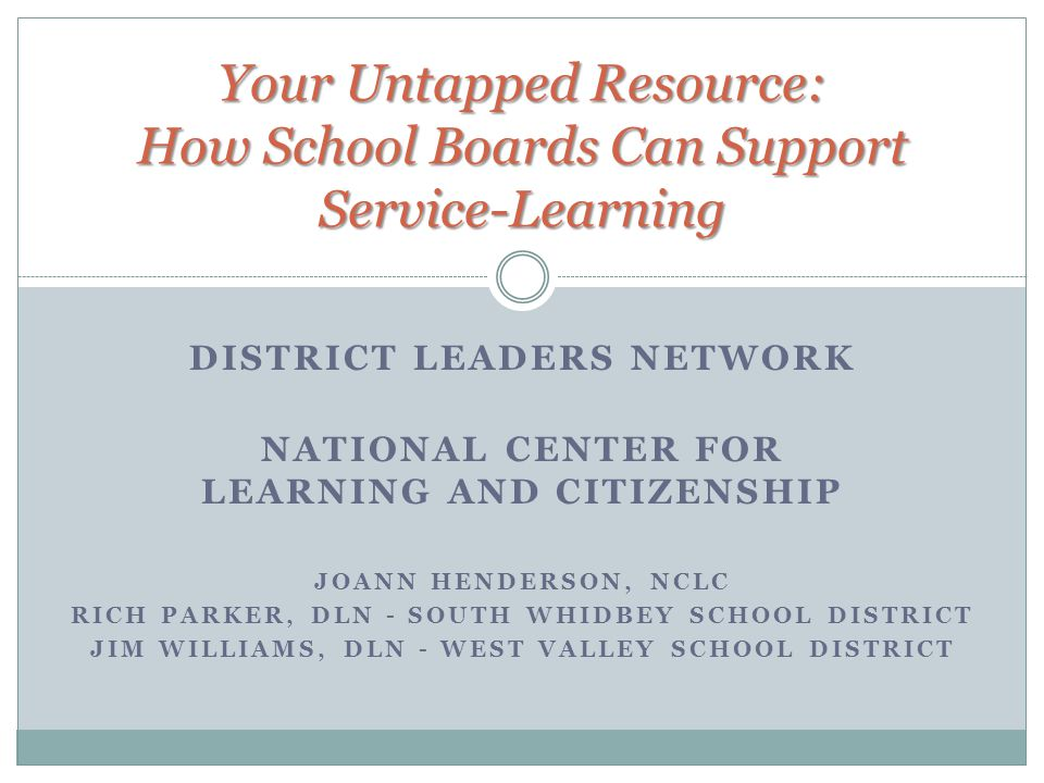 Your Untapped Resource: How School Boards Can Support Service-Learning