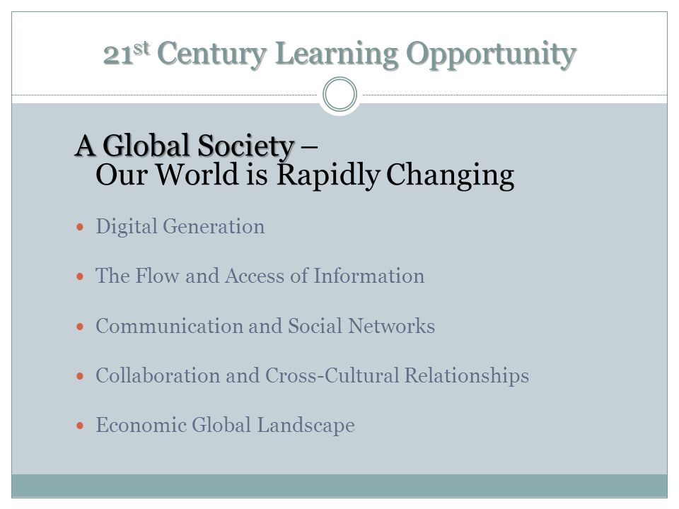 21st Century Learning Opportunity