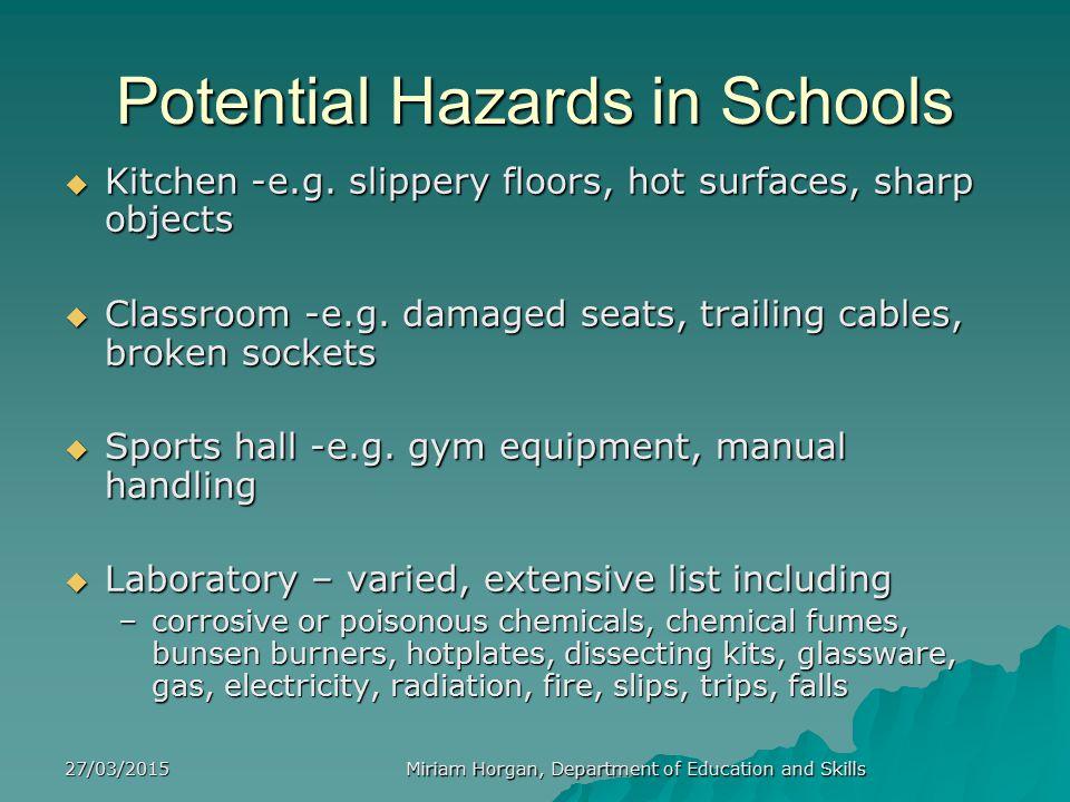 Potential Hazards in Schools