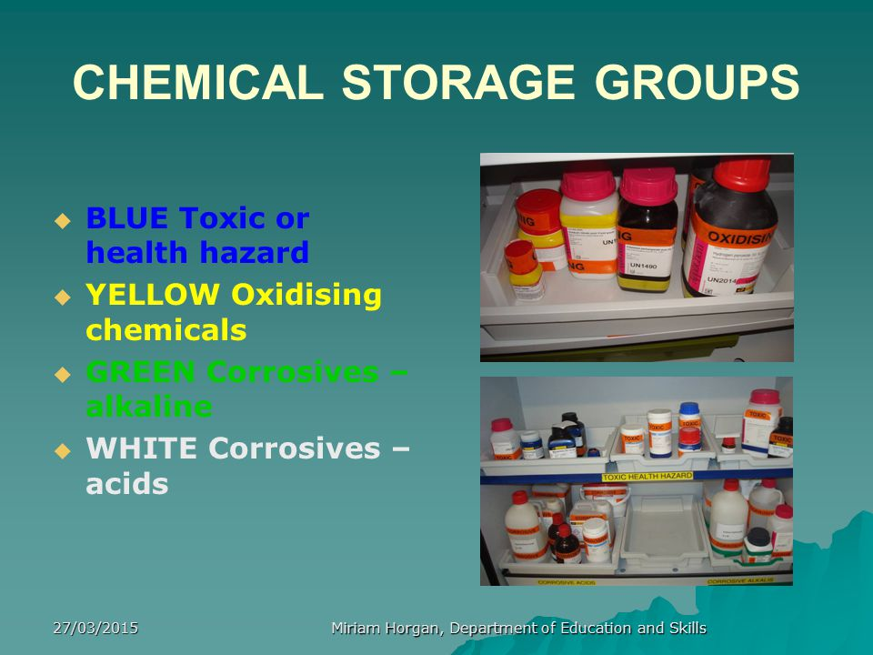 CHEMICAL STORAGE GROUPS