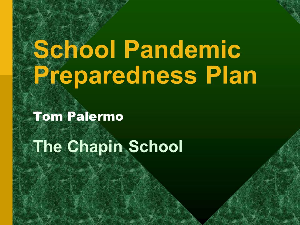 School Pandemic Preparedness Plan