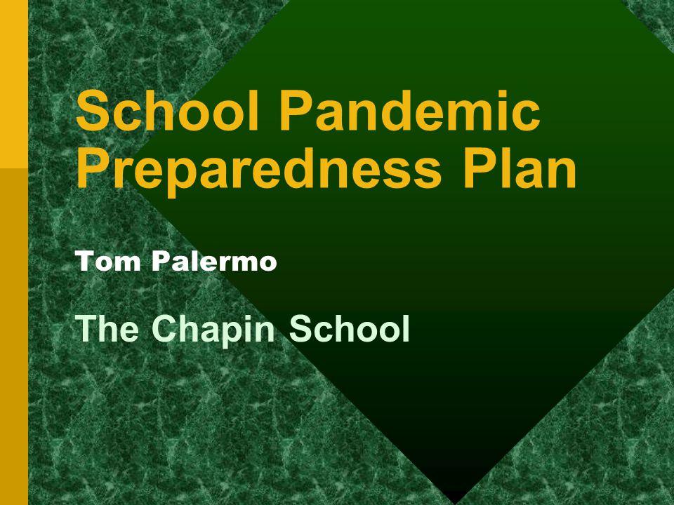 School Pandemic Preparedness Plan