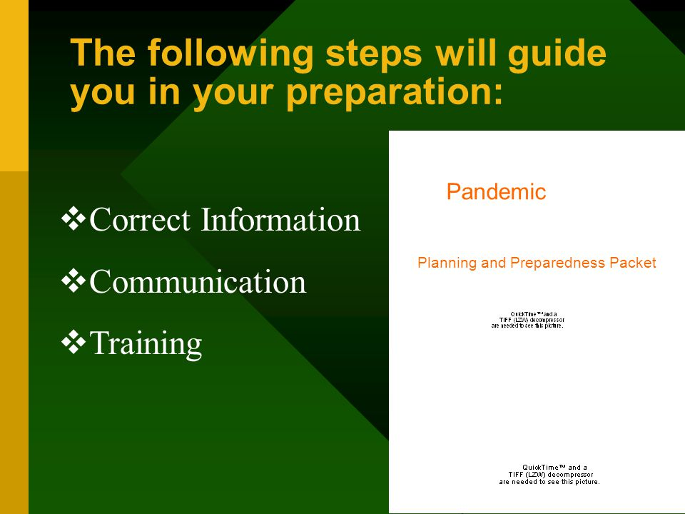 The following steps will guide you in your preparation: