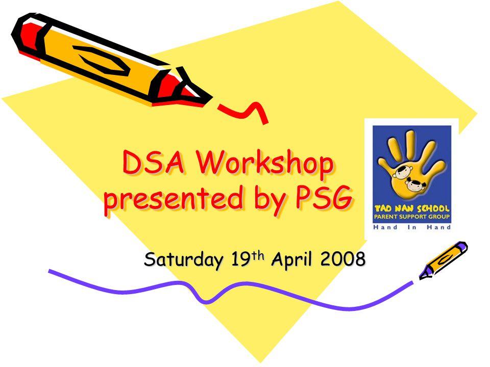 DSA Workshop presented by PSG