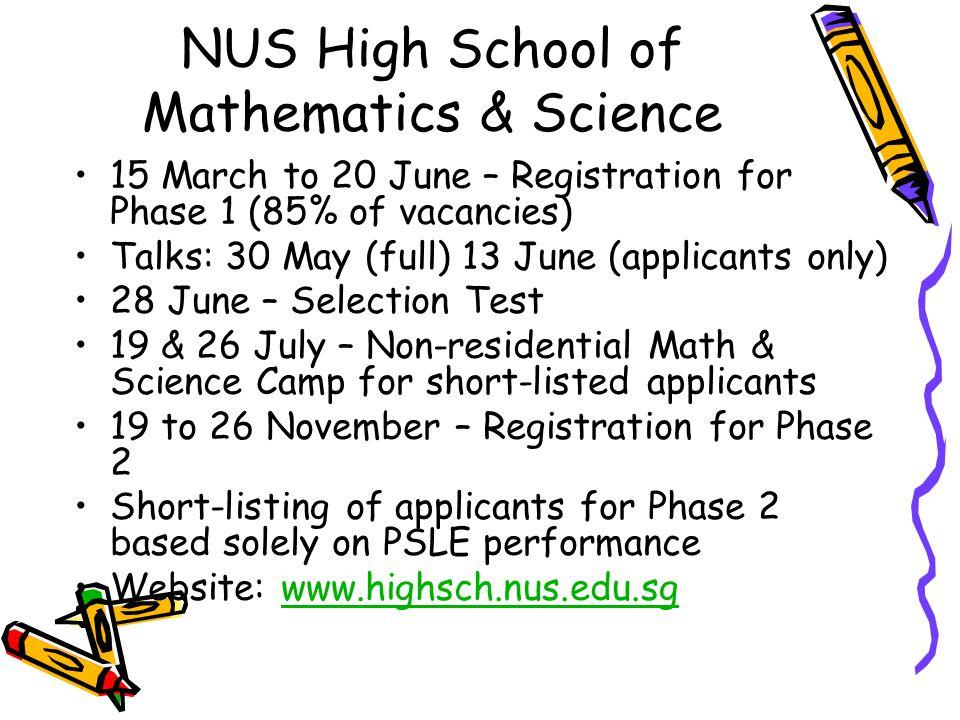 NUS High School of Mathematics & Science