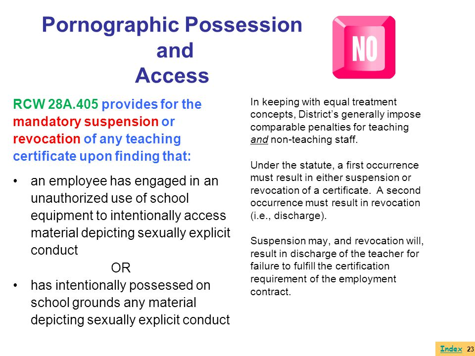 Pornographic Possession and Access