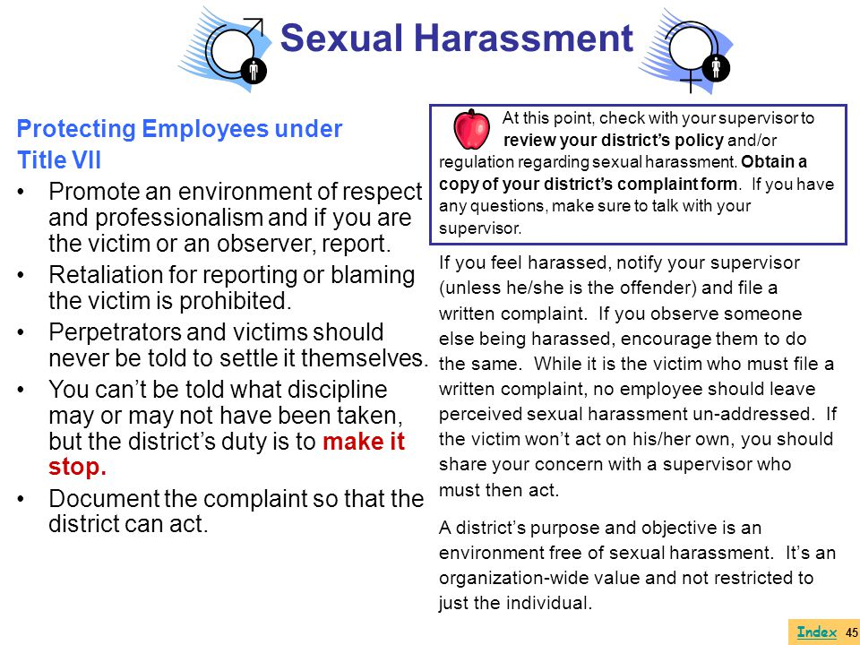 Sexual Harassment Protecting Employees under Title VII