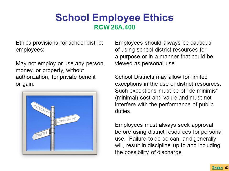 School Employee Ethics RCW 28A.400