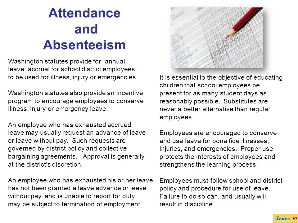Attendance and Absenteeism
