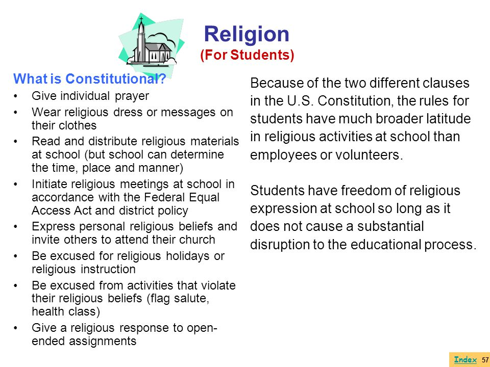 Religion (For Students) What is Constitutional