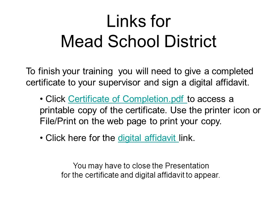 Links for Mead School District