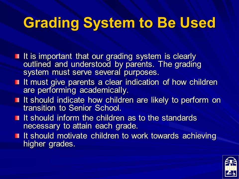 Grading System to Be Used
