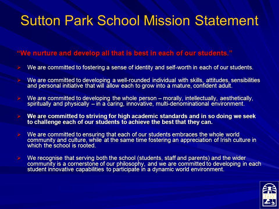 Sutton Park School Mission Statement