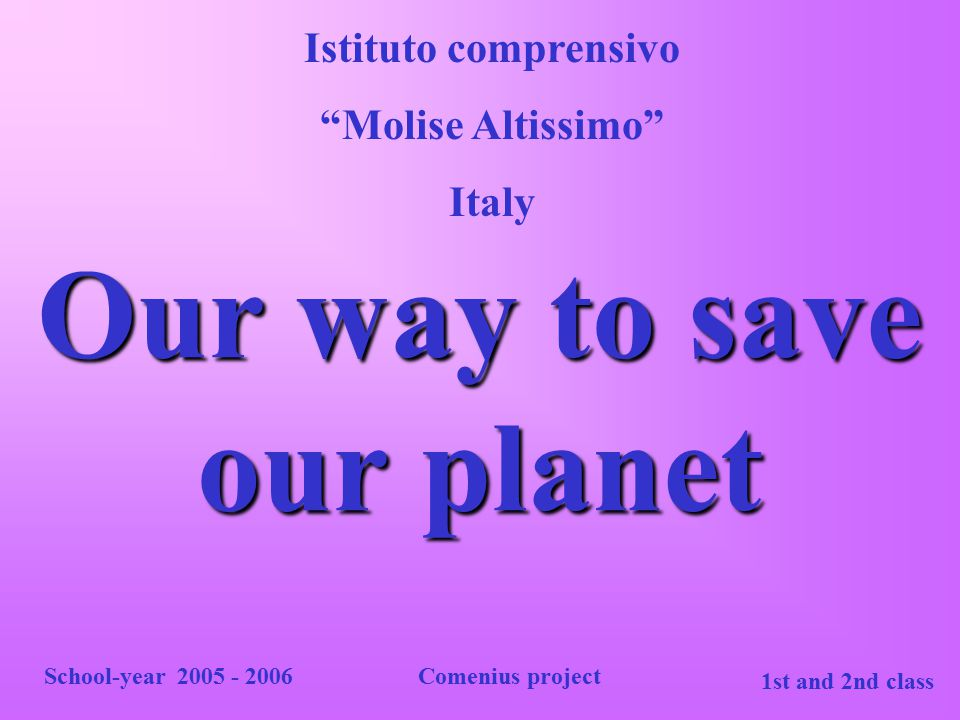 Our way to save our planet
