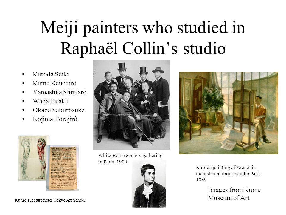 Meiji painters who studied in Raphaël Collin's studio