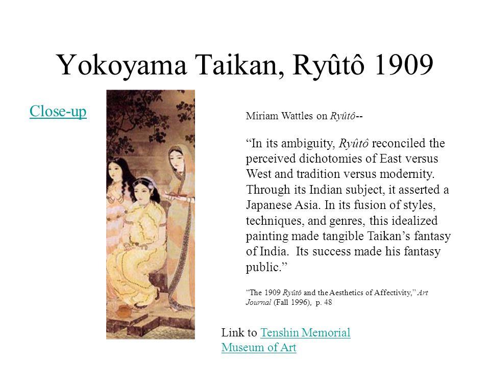 Yokoyama Taikan, Ryûtô 1909 Close-up