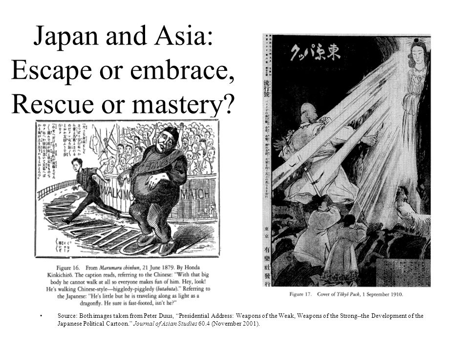 Japan and Asia: Escape or embrace, Rescue or mastery