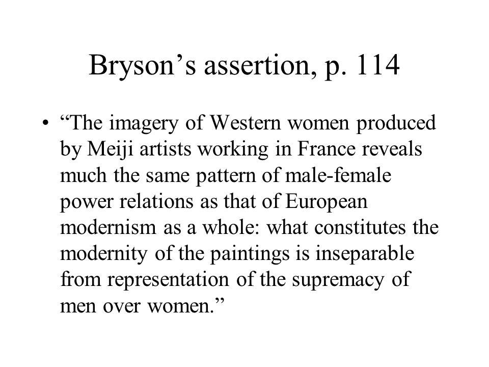 Bryson's assertion, p. 114