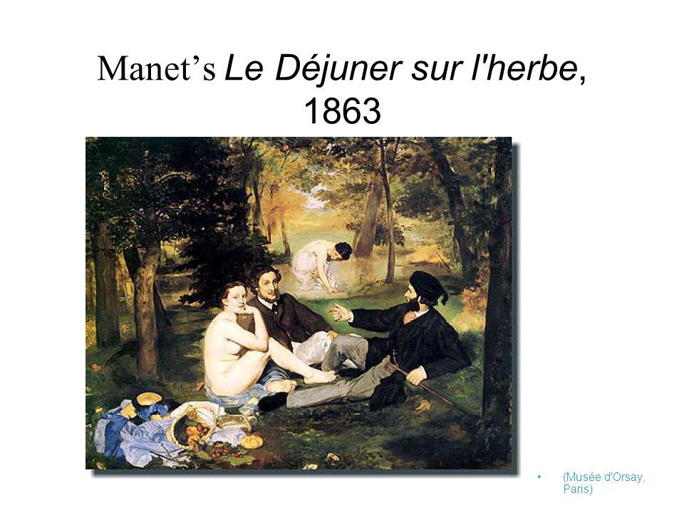 Manet's Le Déjuner sur l herbe, 1863