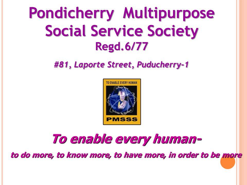 Pondicherry Multipurpose Social Service Society