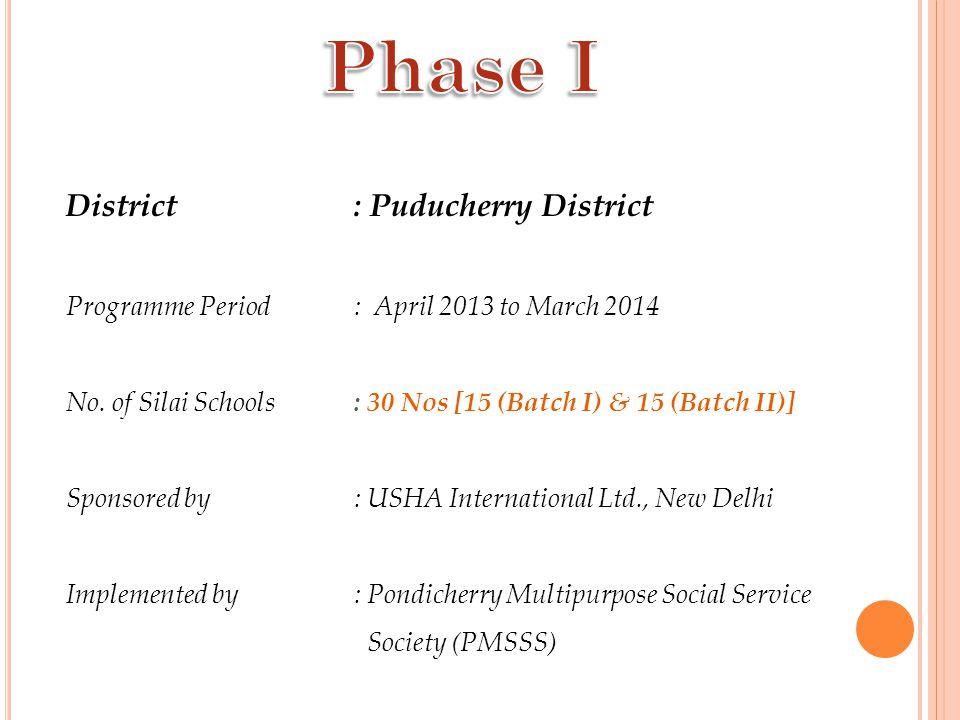 Phase I District : Puducherry District