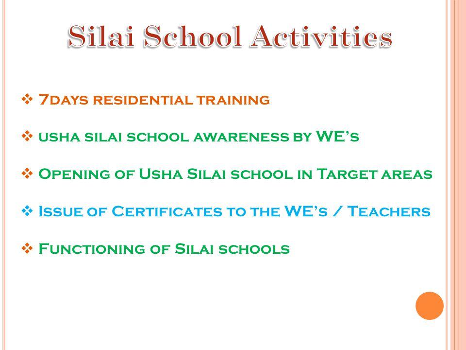 Silai School Activities