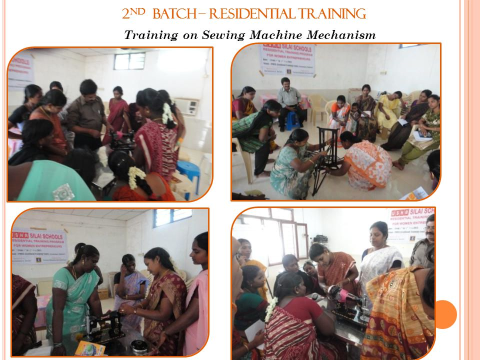 2nd Batch – Residential Training Training on Sewing Machine Mechanism