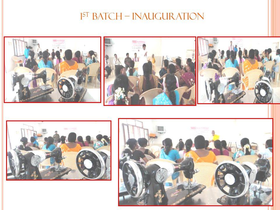 1st Batch – Inauguration