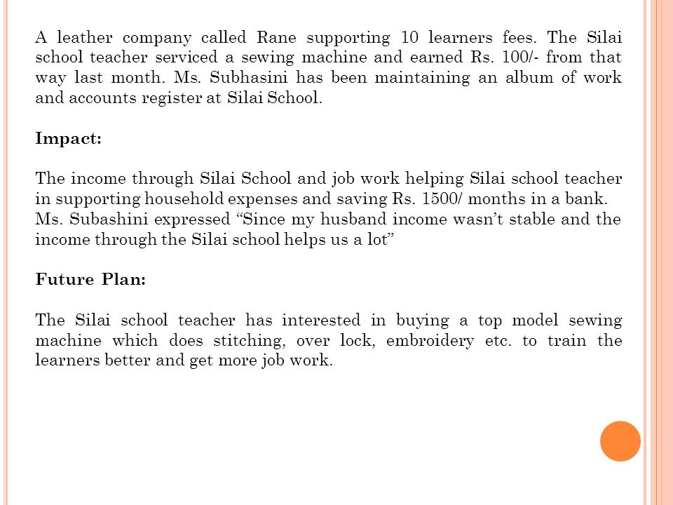 A leather company called Rane supporting 10 learners fees