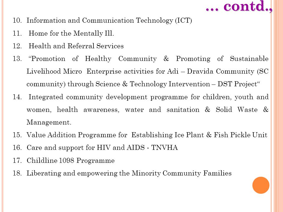 … contd., Information and Communication Technology (ICT)