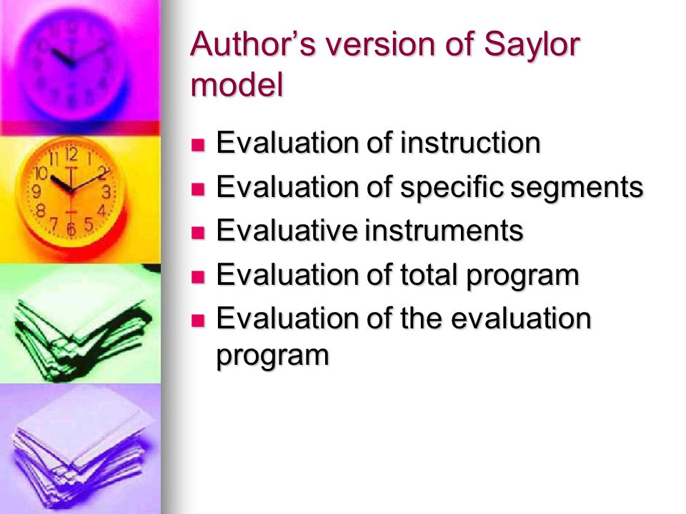 Author's version of Saylor model
