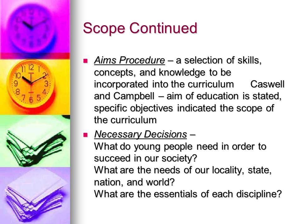 Scope Continued