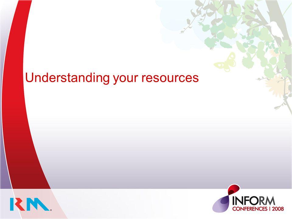 Understanding your resources