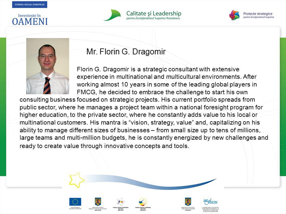 Mr. Florin G. Dragomir
