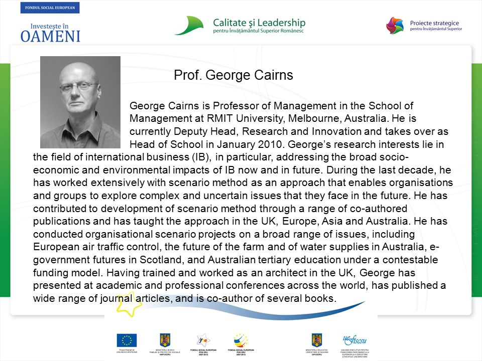 Prof. George Cairns
