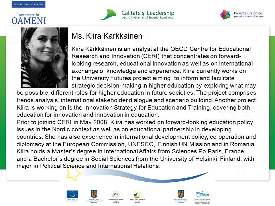 Ms. Kiira Karkkainen