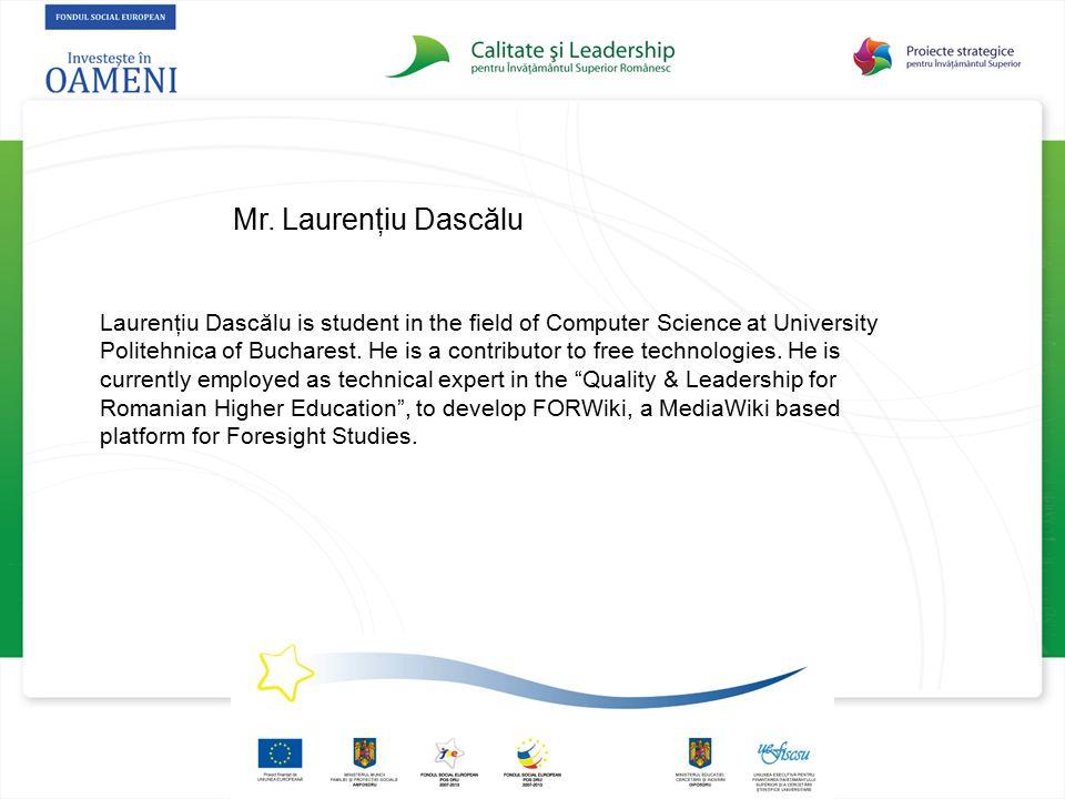 Mr. Laurenţiu Dascălu