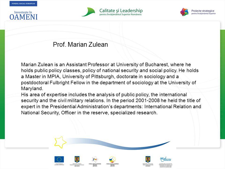 Prof. Marian Zulean