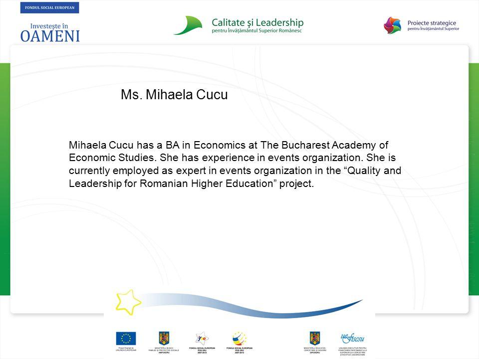 Ms. Mihaela Cucu